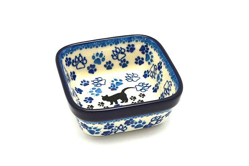 Ceramika Artystyczna Polish Pottery Ramekin - Square - Boo Boo Kitty 428-1771a (Ceramika Artystyczna)