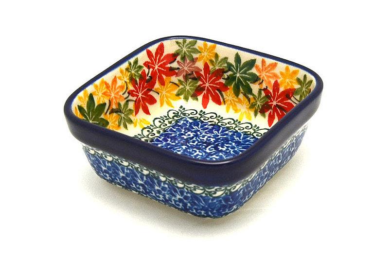 Ceramika Artystyczna Polish Pottery Ramekin - Square - Maple Harvest 428-2533a (Ceramika Artystyczna)