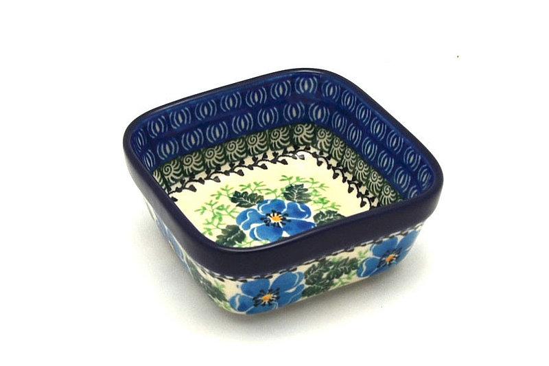 Ceramika Artystyczna Polish Pottery Ramekin - Square - Morning Glory 428-1915a (Ceramika Artystyczna)