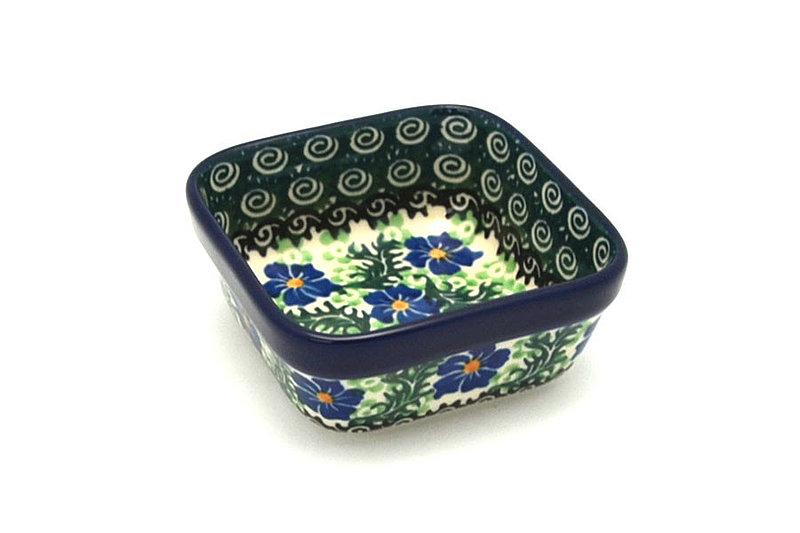 Ceramika Artystyczna Polish Pottery Ramekin - Square - Sweet Violet 428-1538a (Ceramika Artystyczna)