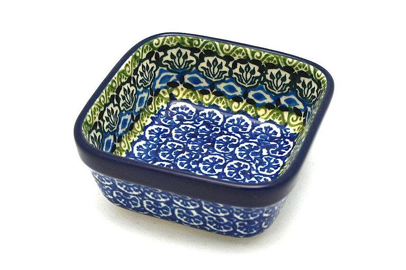 Ceramika Artystyczna Polish Pottery Ramekin - Square - Tranquility 428-1858a (Ceramika Artystyczna)