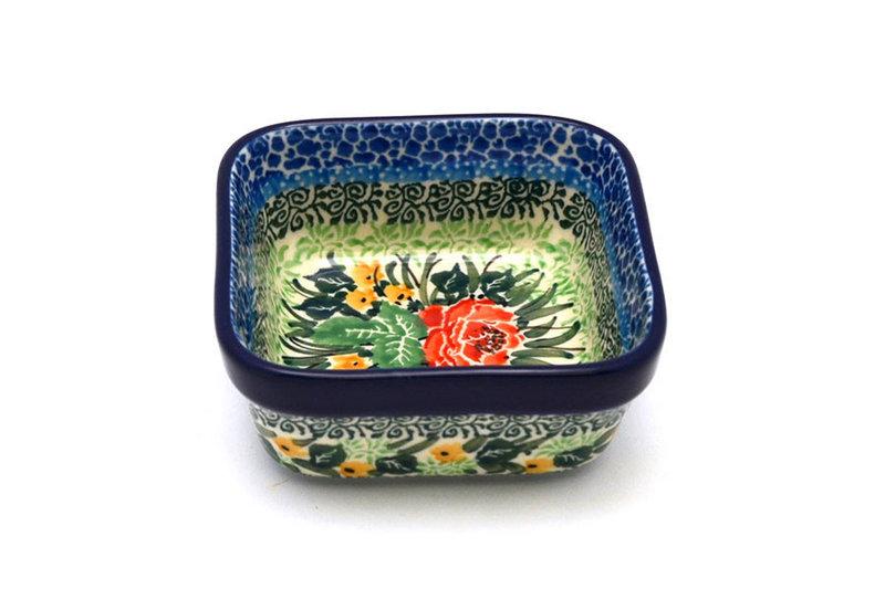Ceramika Artystyczna Polish Pottery Ramekin - Square - Unikat Signature - U4400 428-U4400 (Ceramika Artystyczna)