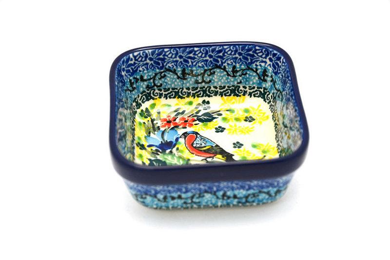 Ceramika Artystyczna Polish Pottery Ramekin - Square - Unikat Signature - U4512 428-U4512 (Ceramika Artystyczna)