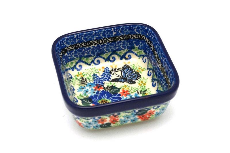 Ceramika Artystyczna Polish Pottery Ramekin - Square - Unikat Signature - U4600 428-U4600 (Ceramika Artystyczna)