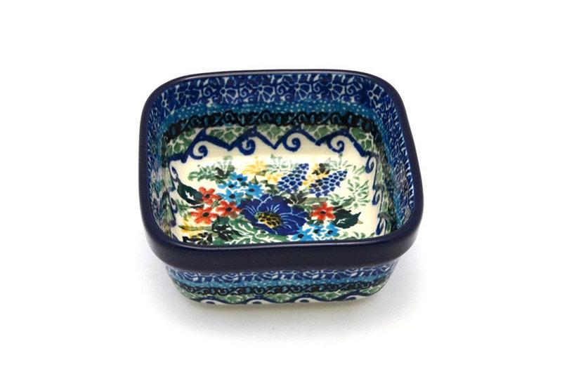 Ceramika Artystyczna Polish Pottery Ramekin - Square - Unikat Signature - U4695 428-U4695 (Ceramika Artystyczna)