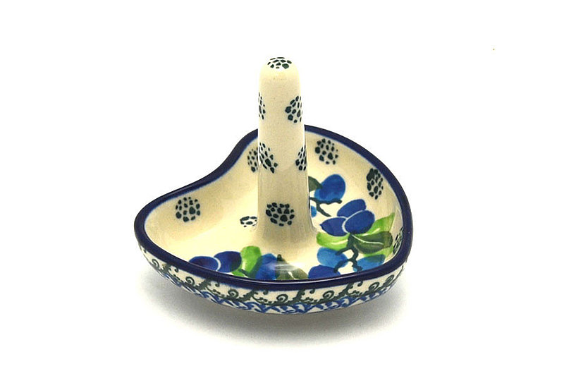 Ceramika Artystyczna Polish Pottery Ring Holder - Blue Berries 904-1416a (Ceramika Artystyczna)