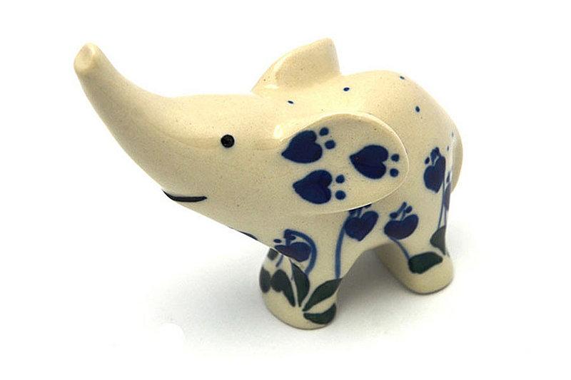 Ceramika Artystyczna Polish Pottery Ring Holder - Elephant - Bleeding Heart A57-377o (Ceramika Artystyczna)