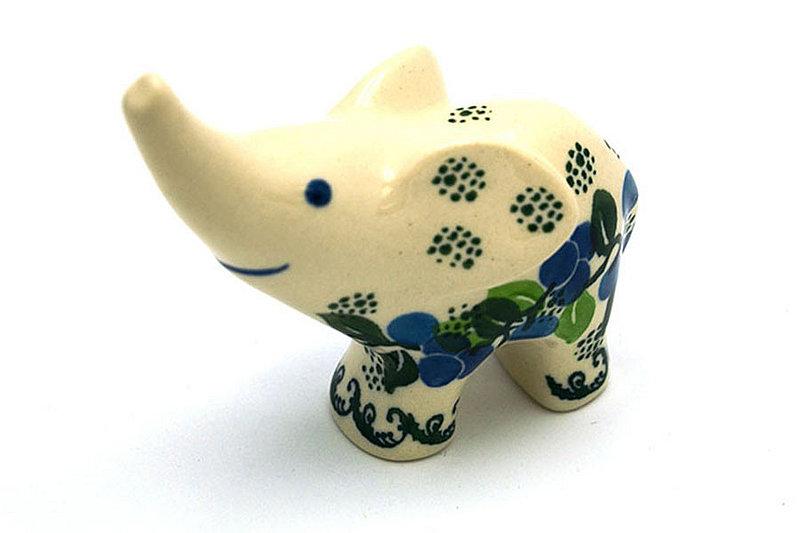 Ceramika Artystyczna Polish Pottery Ring Holder - Elephant - Blue Berries A57-1416a (Ceramika Artystyczna)