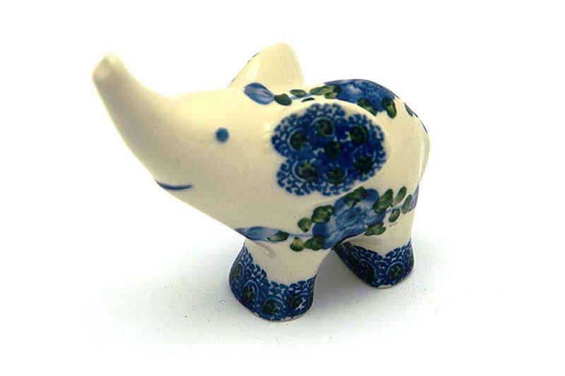 Ceramika Artystyczna Polish Pottery Ring Holder - Elephant - Blue Poppy A57-163a (Ceramika Artystyczna)