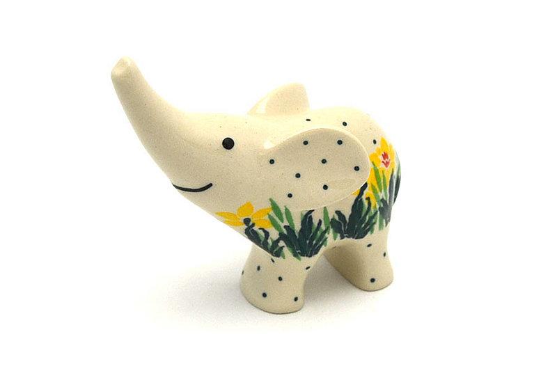 Ceramika Artystyczna Polish Pottery Ring Holder - Elephant - Daffodil A57-2122q (Ceramika Artystyczna)