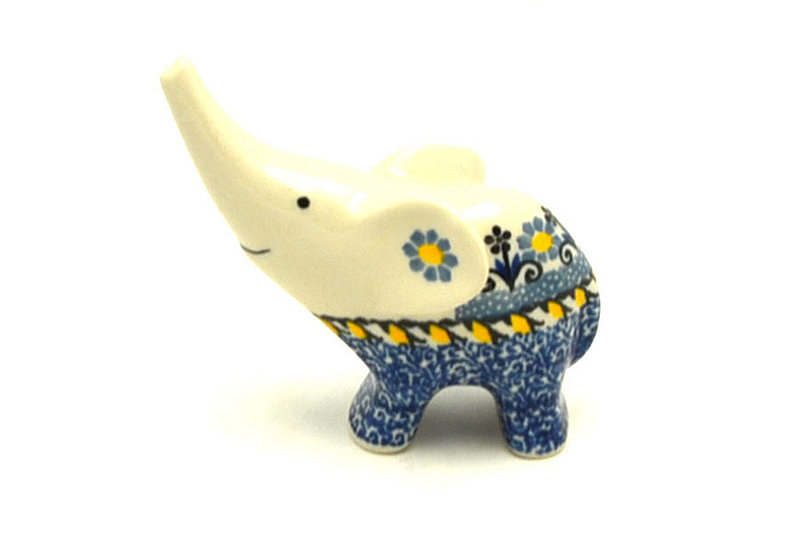 Ceramika Artystyczna Polish Pottery Ring Holder - Elephant - Daisy Maize A57-2178a (Ceramika Artystyczna)