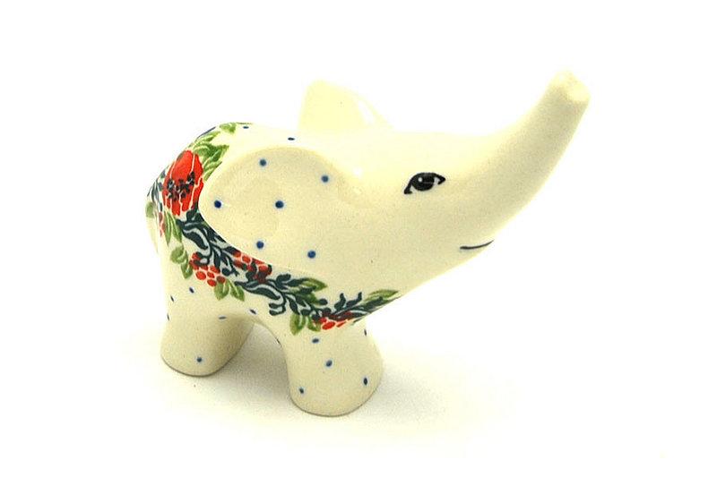 Ceramika Artystyczna Polish Pottery Ring Holder - Elephant - Garden Party A57-1535a (Ceramika Artystyczna)
