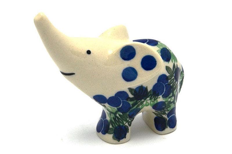 Ceramika Artystyczna Polish Pottery Ring Holder - Elephant - Huckleberry A57-1413a (Ceramika Artystyczna)