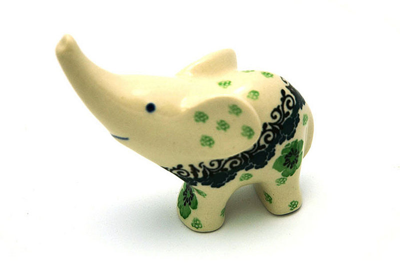 Ceramika Artystyczna Polish Pottery Ring Holder - Elephant - Kiwi A57-1479a (Ceramika Artystyczna)