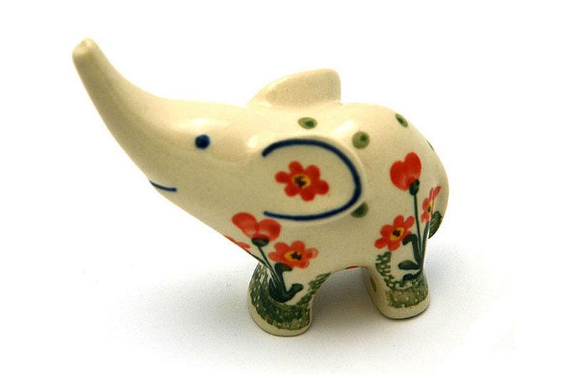 Ceramika Artystyczna Polish Pottery Ring Holder - Elephant - Peach Spring Daisy A57-560a (Ceramika Artystyczna)