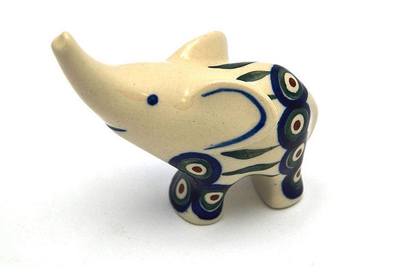 Ceramika Artystyczna Polish Pottery Ring Holder - Elephant - Peacock A57-054a (Ceramika Artystyczna)