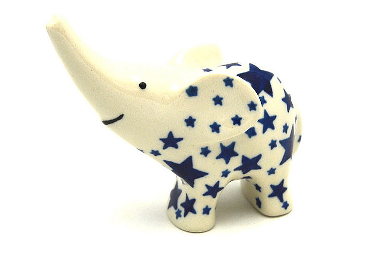 Polish Pottery Ring Holder - Elephant - Star Struck