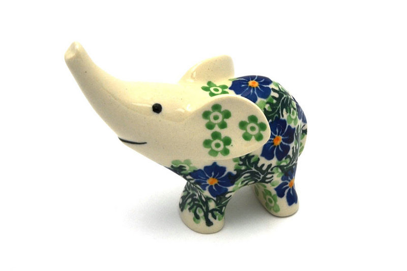 Ceramika Artystyczna Polish Pottery Ring Holder - Elephant - Sweet Violet A57-1538a (Ceramika Artystyczna)
