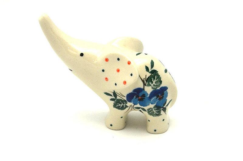 Ceramika Artystyczna Polish Pottery Ring Holder - Elephant - Winter Viola A57-2273a (Ceramika Artystyczna)