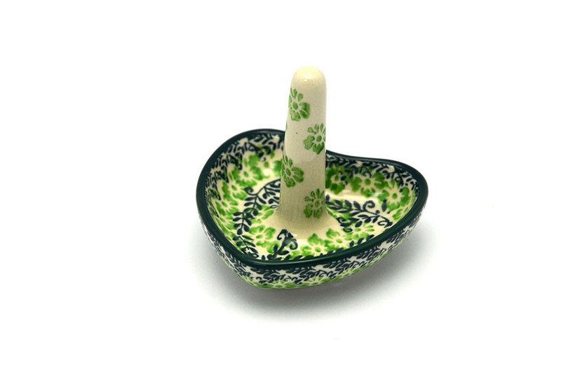 Ceramika Artystyczna Polish Pottery Ring Holder - Irish Meadow 904-1888q (Ceramika Artystyczna)