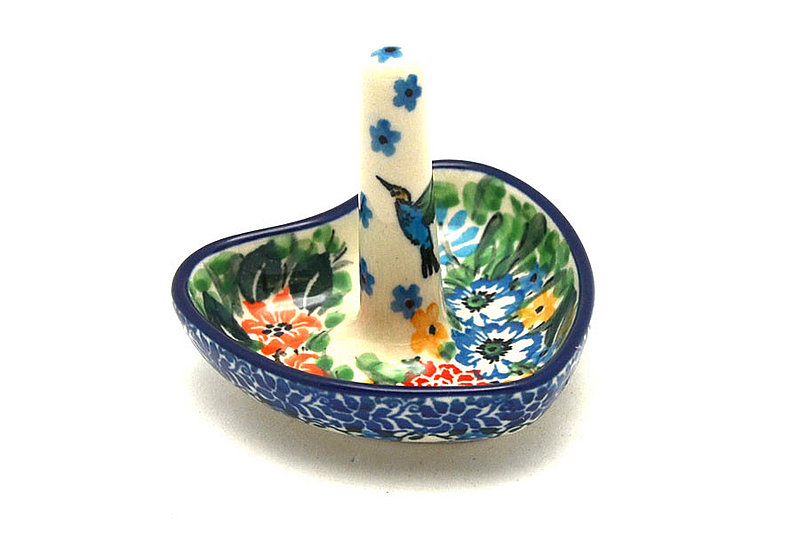 Ceramika Artystyczna Polish Pottery Ring Holder - Unikat Signature - U3271 904-U3271 (Ceramika Artystyczna)