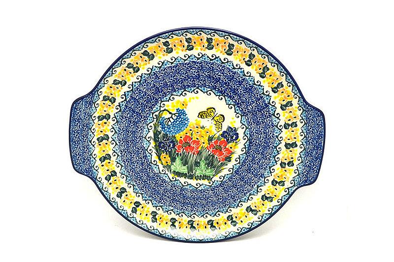 Ceramika Artystyczna Polish Pottery Round Tray with Handles - Unikat Signature - U4592 152-U4592 (Ceramika Artystyczna)