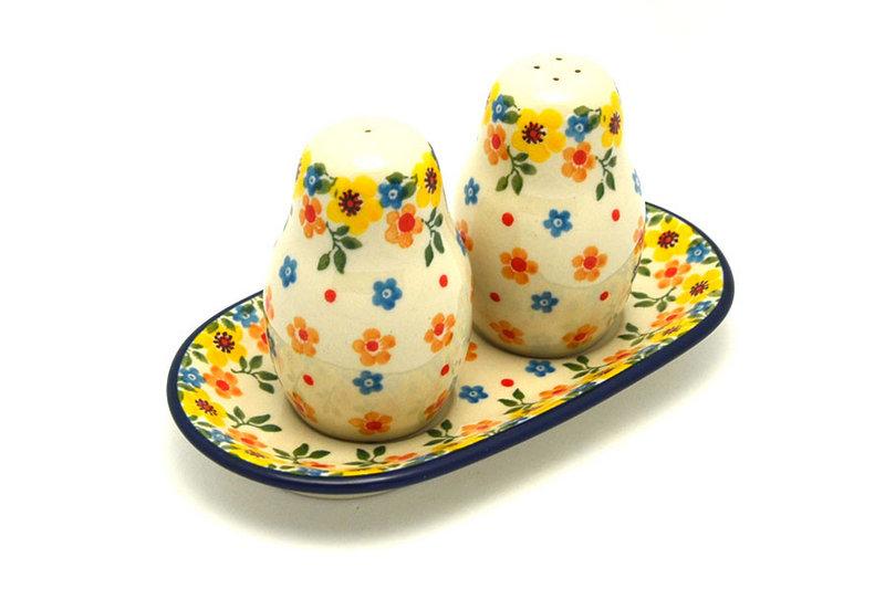 Ceramika Artystyczna Polish Pottery Salt & Pepper Set - Buttercup 131-2225a (Ceramika Artystyczna)