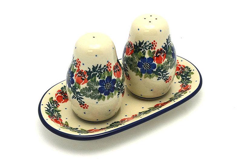 Ceramika Artystyczna Polish Pottery Salt & Pepper Set - Garden Party 131-1535a (Ceramika Artystyczna)