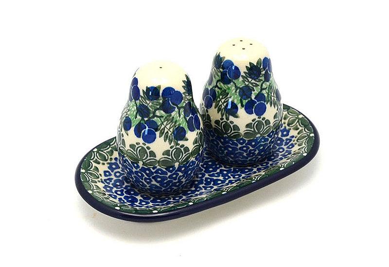 Ceramika Artystyczna Polish Pottery Salt & Pepper Set - Huckleberry 131-1413a (Ceramika Artystyczna)