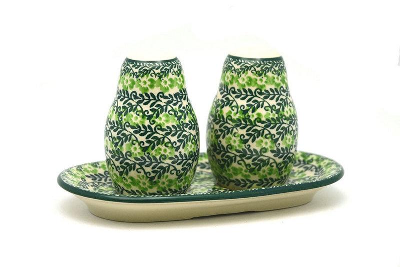 Ceramika Artystyczna Polish Pottery Salt & Pepper Set - Irish Meadow 131-1888q (Ceramika Artystyczna)