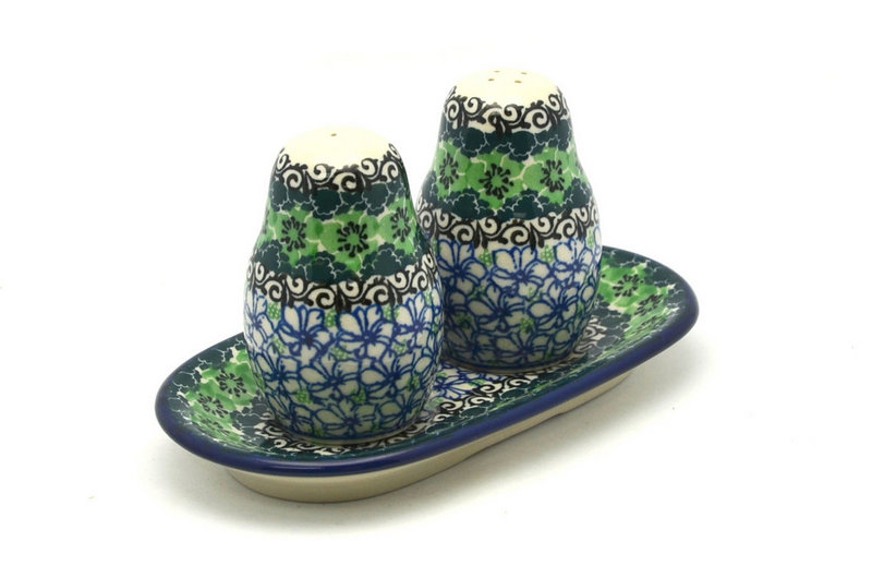 Ceramika Artystyczna Polish Pottery Salt & Pepper Set - Kiwi 131-1479a (Ceramika Artystyczna)
