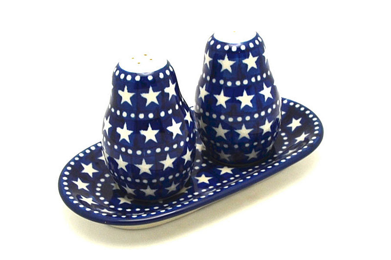 Ceramika Artystyczna Polish Pottery Salt & Pepper Set - Starlight 131-0119a (Ceramika Artystyczna)