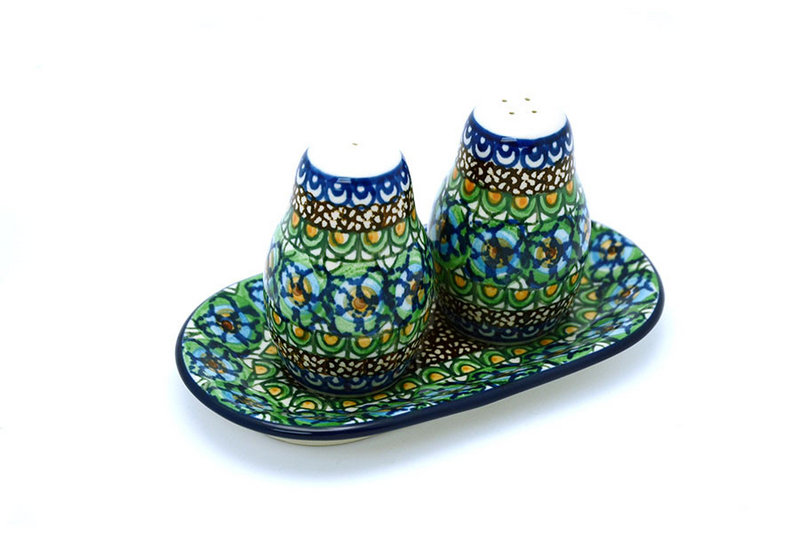 Ceramika Artystyczna Polish Pottery Salt & Pepper Set - Unikat Signature U151 131-U0151 (Ceramika Artystyczna)