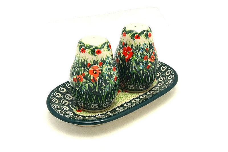Ceramika Artystyczna Polish Pottery Salt & Pepper Set - Unikat Signature U4336 131-U4336 (Ceramika Artystyczna)