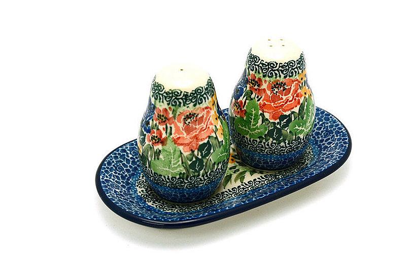 Ceramika Artystyczna Polish Pottery Salt & Pepper Set - Unikat Signature U4400 131-U4400 (Ceramika Artystyczna)
