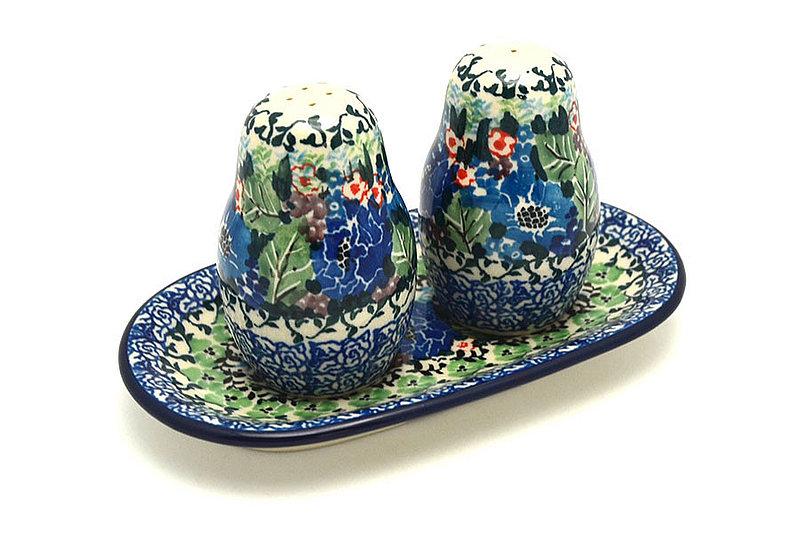 Ceramika Artystyczna Polish Pottery Salt & Pepper Set - Unikat Signature U4572 131-U4572 (Ceramika Artystyczna)
