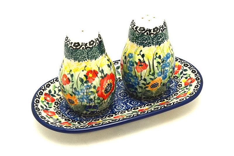 Ceramika Artystyczna Polish Pottery Salt & Pepper Set - Unikat Signature U4578 131-U4578 (Ceramika Artystyczna)