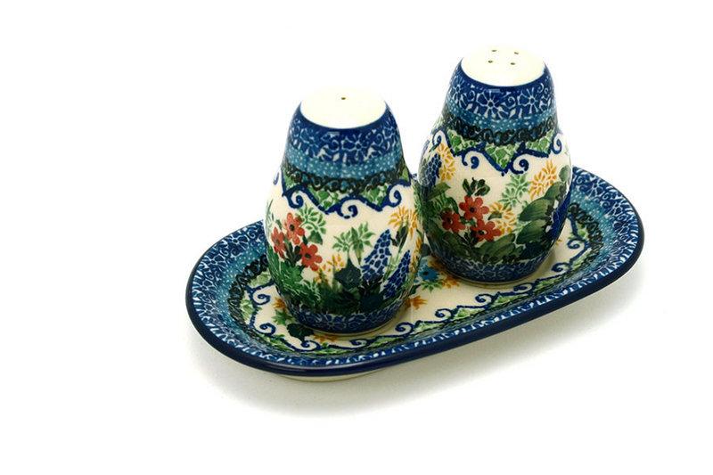 Ceramika Artystyczna Polish Pottery Salt & Pepper Set - Unikat Signature U4695 131-U4695 (Ceramika Artystyczna)