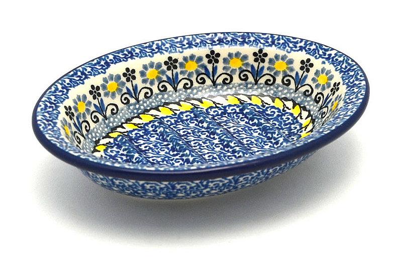 Ceramika Artystyczna Polish Pottery Soap Dish - Daisy Maize 510-2178a (Ceramika Artystyczna)