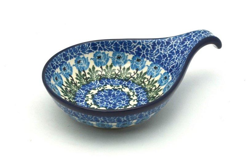 Ceramika Artystyczna Polish Pottery Spoon/Ladle Rest - Antique Rose 174-1390a (Ceramika Artystyczna)
