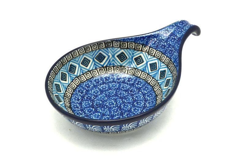 Ceramika Artystyczna Polish Pottery Spoon/Ladle Rest - Aztec Sky 174-1917a (Ceramika Artystyczna)