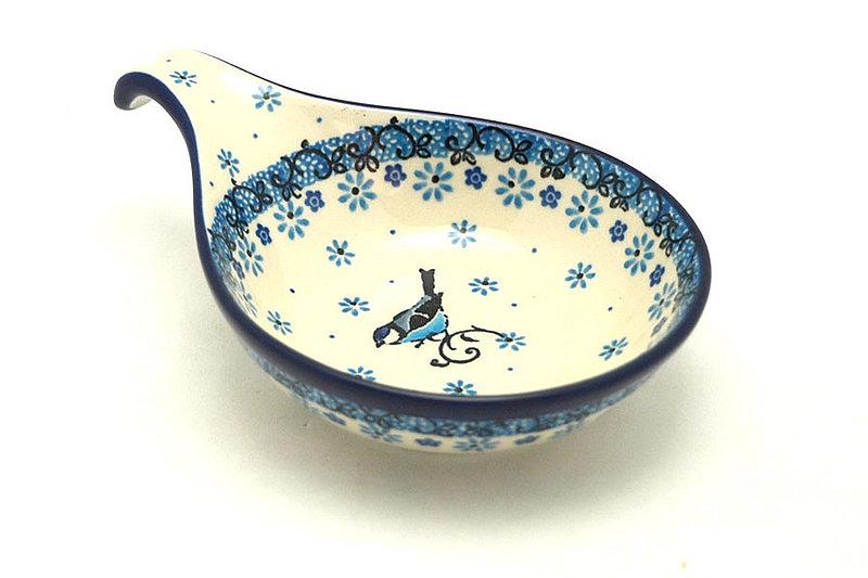 Ceramika Artystyczna Polish Pottery Spoon/Ladle Rest - Bluebird 174-2529a (Ceramika Artystyczna)