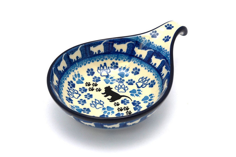 Polish Pottery Spoon/Ladle Rest - Boo Boo Kitty