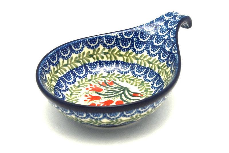 Ceramika Artystyczna Polish Pottery Spoon/Ladle Rest - Crimson Bells 174-1437a (Ceramika Artystyczna)