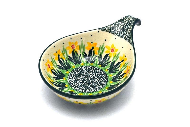Ceramika Artystyczna Polish Pottery Spoon/Ladle Rest - Daffodil 174-2122q (Ceramika Artystyczna)