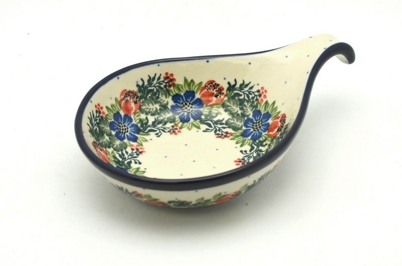 Ceramika Artystyczna Polish Pottery Spoon/Ladle Rest - Garden Party 174-1535a (Ceramika Artystyczna)