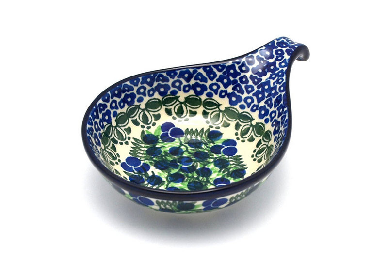 Ceramika Artystyczna Polish Pottery Spoon/Ladle Rest - Huckleberry 174-1413a (Ceramika Artystyczna)