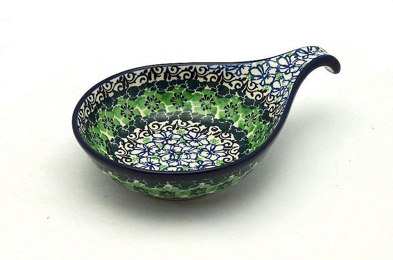 Ceramika Artystyczna Polish Pottery Spoon/Ladle Rest - Kiwi 174-1479a (Ceramika Artystyczna)