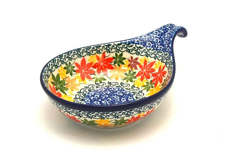 Ceramika Artystyczna Polish Pottery Spoon/Ladle Rest - Maple Harvest 174-2533a (Ceramika Artystyczna)