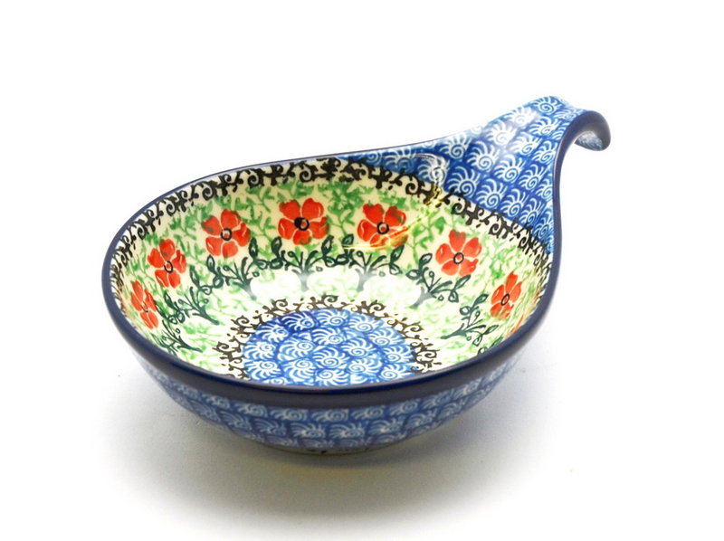 Polish Pottery Spoon/Ladle Rest - Maraschino